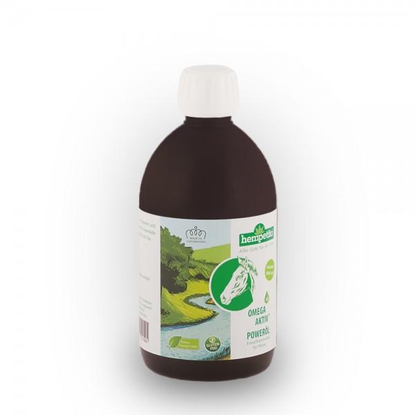 Omega-aktiv+ Poweröl für Pferde 500 ml